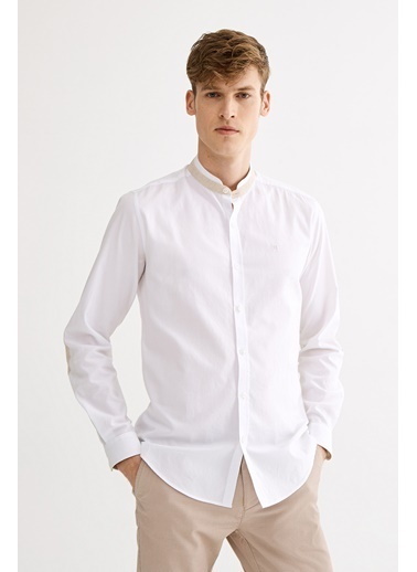 Avva Erkek  Hakim YakaSlim Fit Gömlek A01S2277 Beyaz